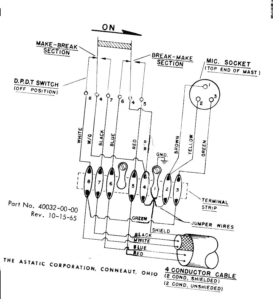Astatic D 104 Microphone Wiring Diagram