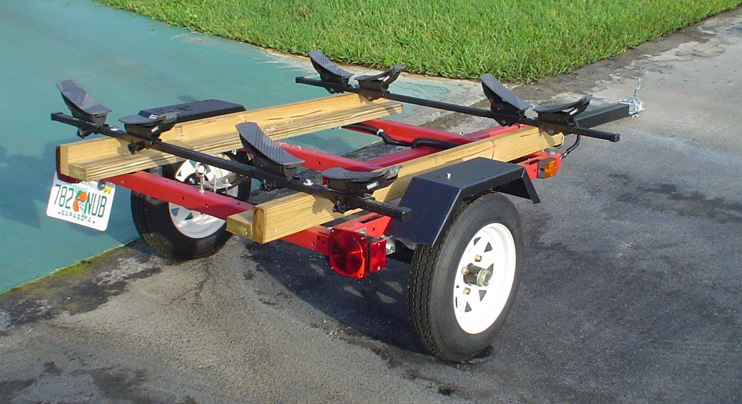 harabor freight kayak trailer modifications