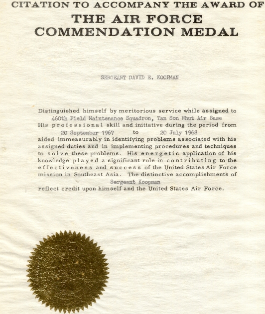 Writing af commendation medal number of lines for Air force decoration citation
