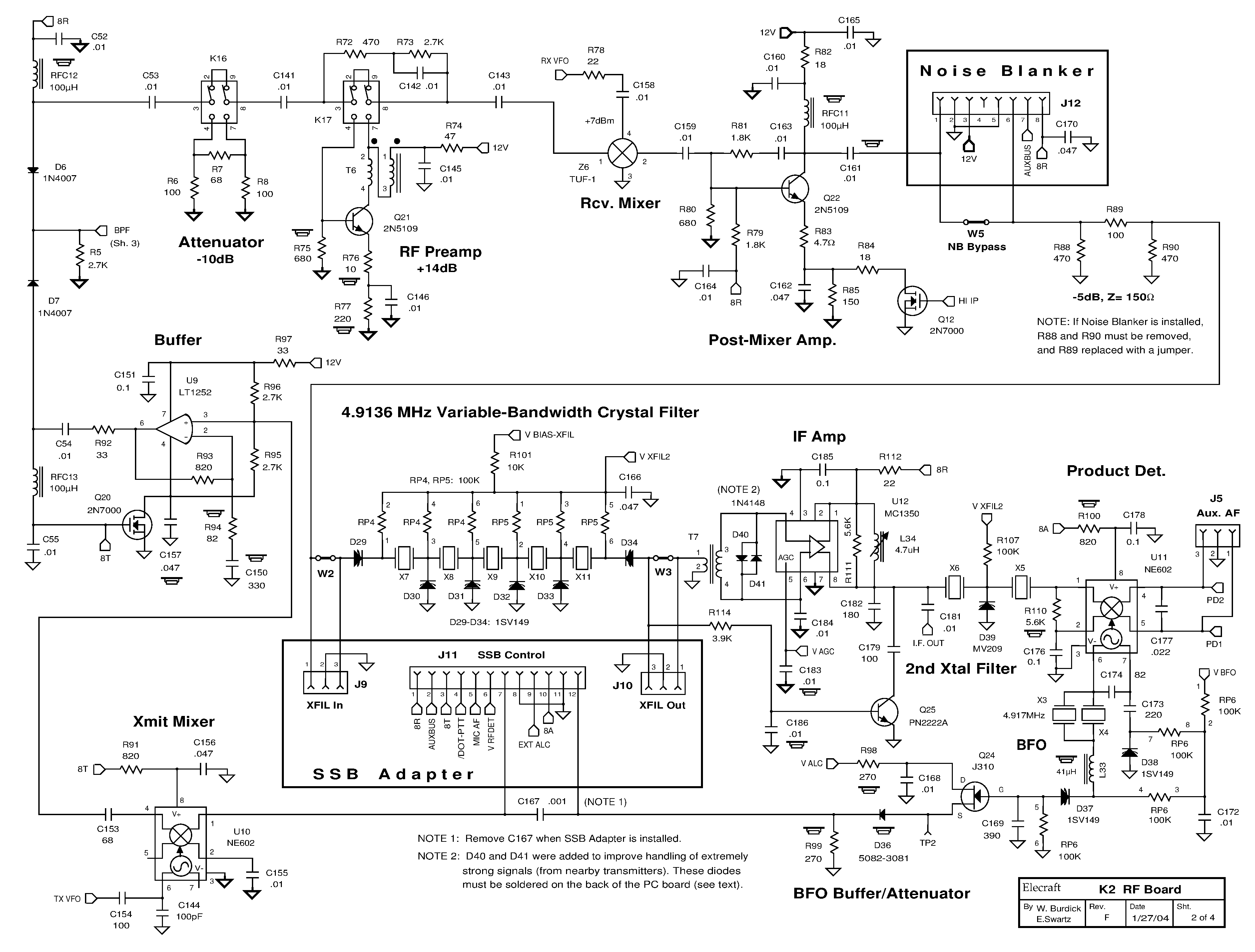 Elecraft Radio Notes Block Diagram Key 3