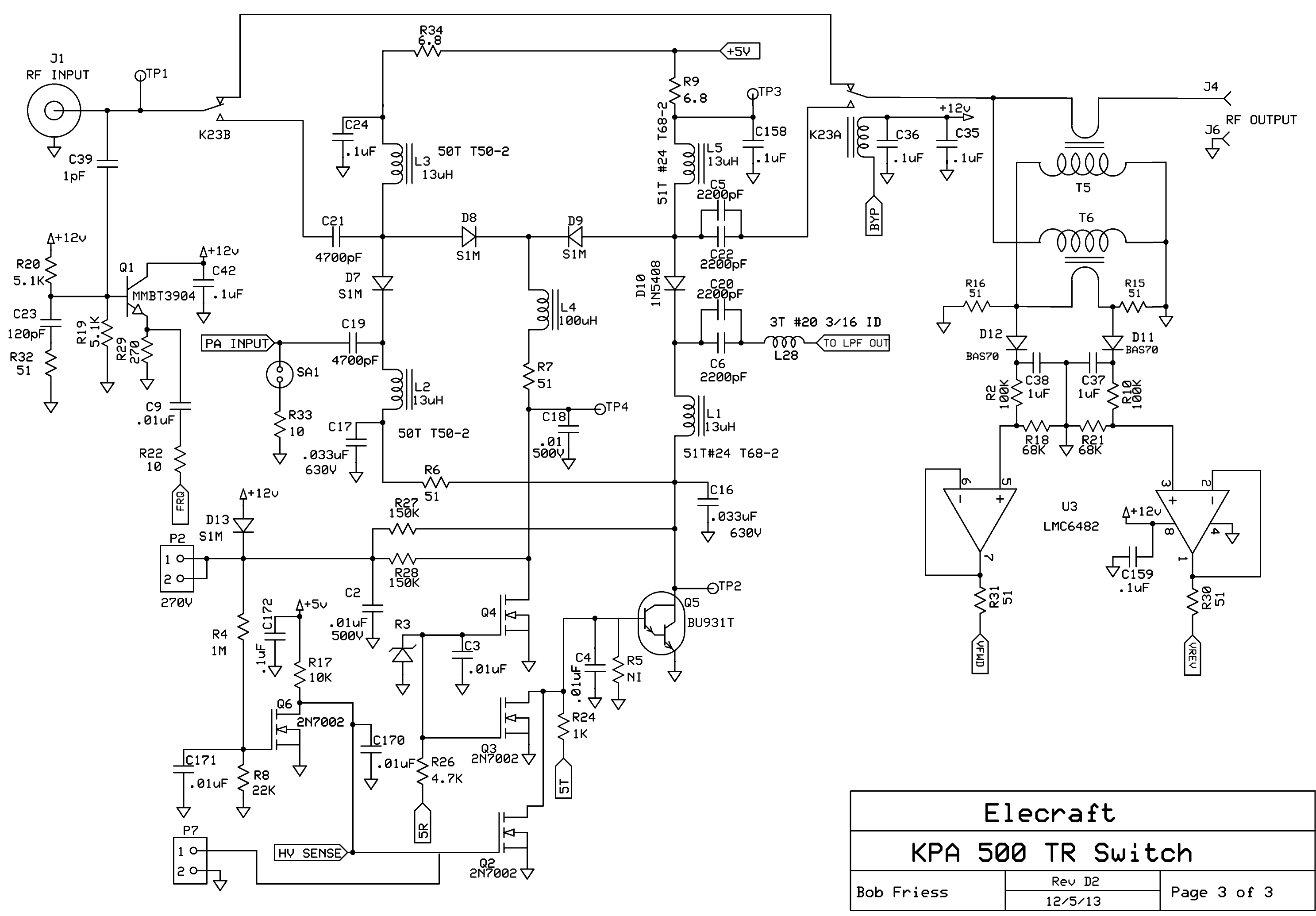 Elecraft Radio Notes Power Supply 030v 02a Electronic Circuits Schematics Diagram Switch