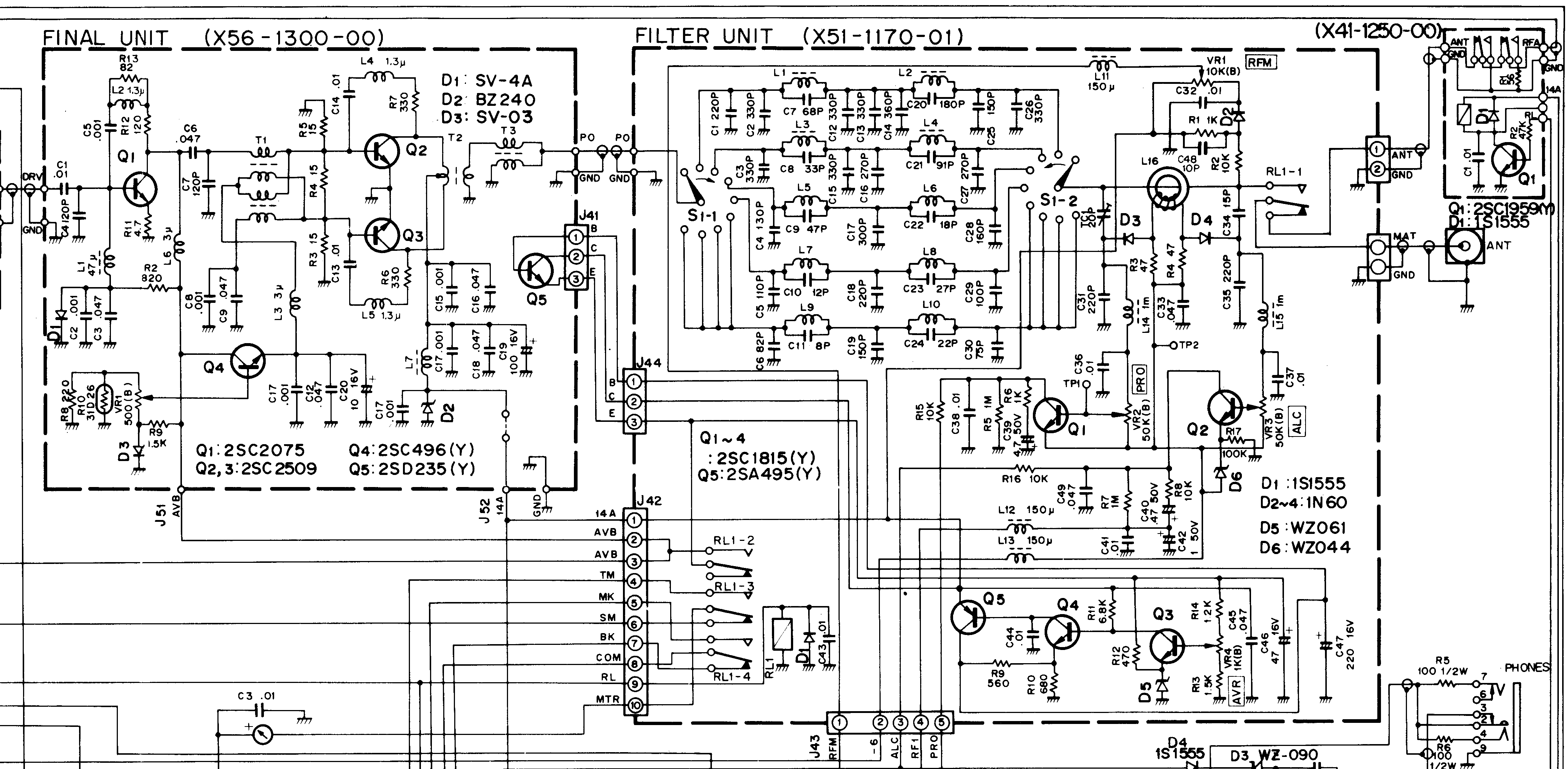 TS-120V: [Complete Schematic] [Filter+Final]