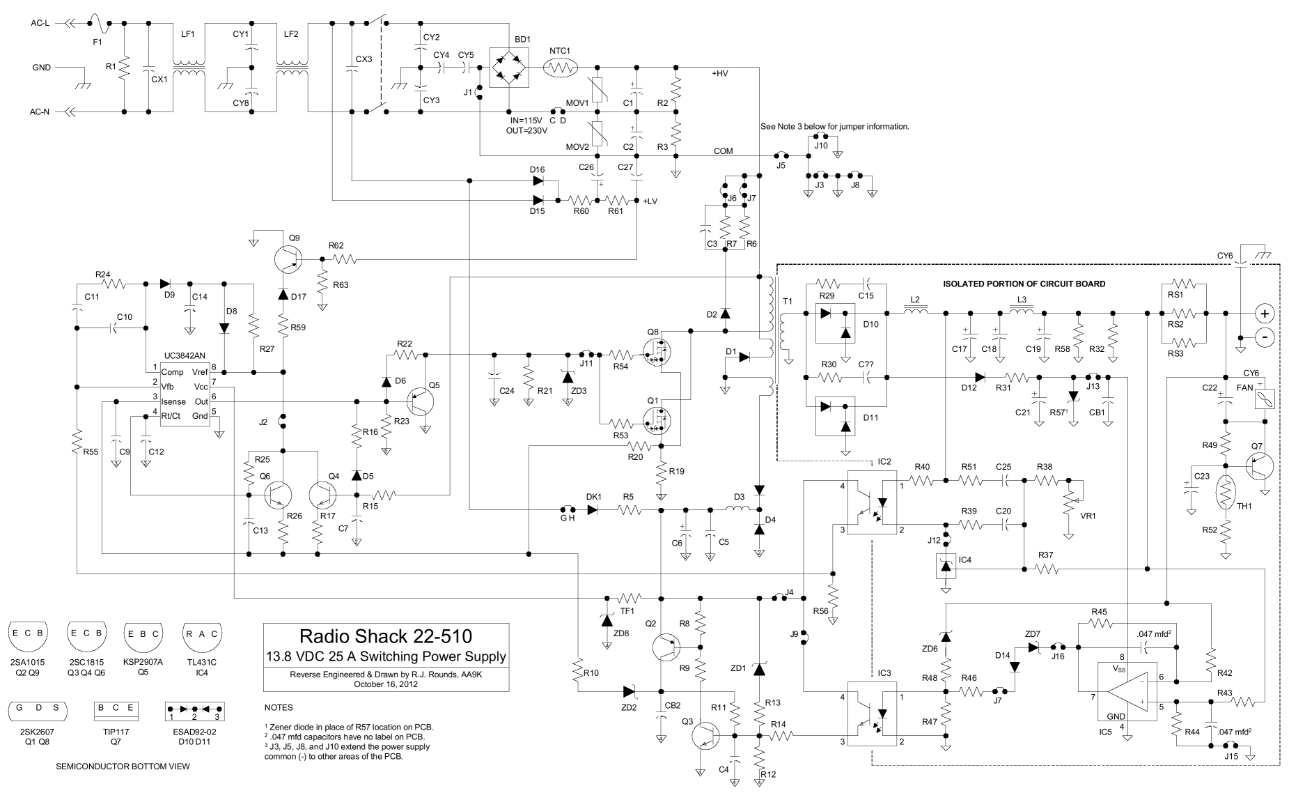 Rs Schematic on Switching Power Supply Schematic