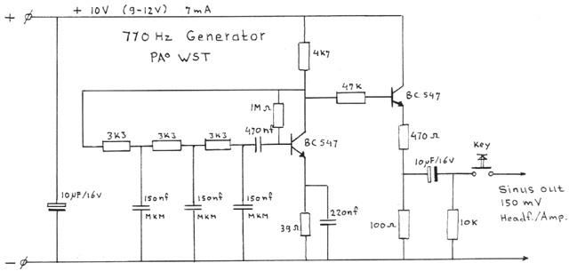 sine wave generator schematic  | qsl.net