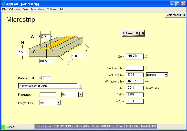 50 ohm micro strip