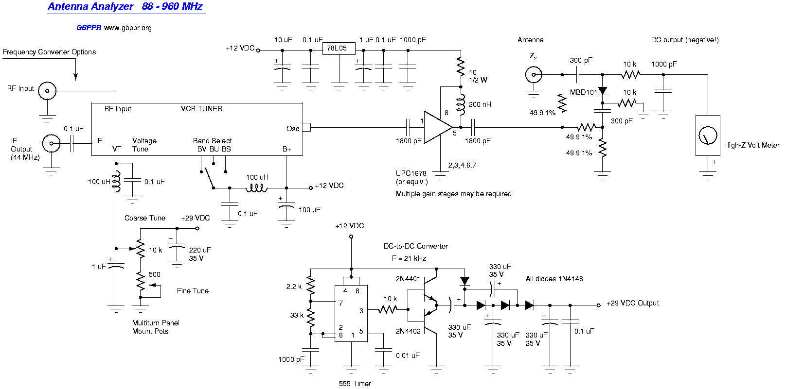 Ham Radio Projects By Csaba Yo5ofh Simple Digital Voltmeter Dvm Using Pic12f675 Schematic With Icl7107 Dvmzip Antenna Analyzer 88 960mhz
