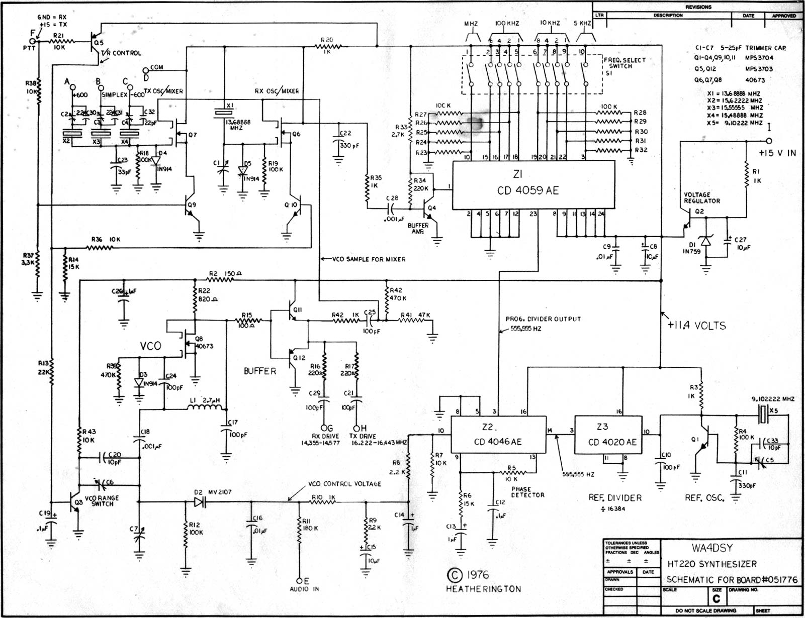 ht220 frequency synthesizer rh qsl net Synthesizer Diagram Screensaver Synthesizer Diagram Mininova