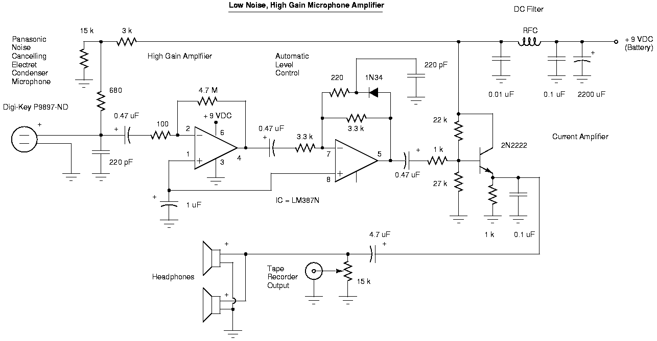 Mic Amplifier Circuit Transistor Smart Wiring Diagrams Design Ham Radio Projects By Csaba Yo5ofh Three Microphone Using
