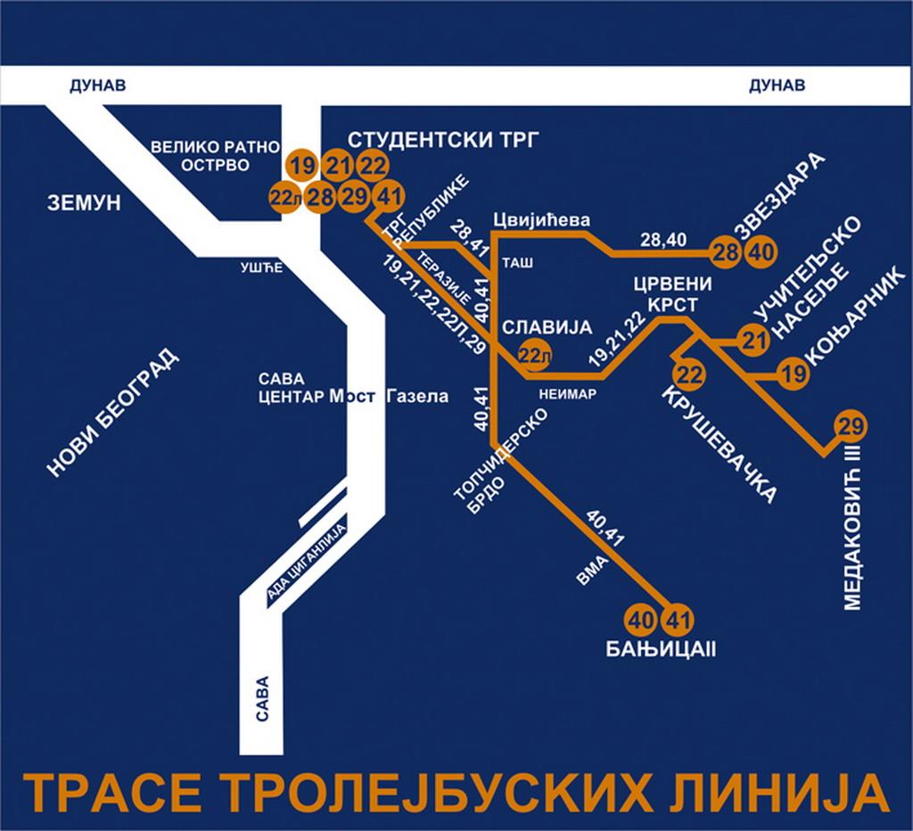 gsp beograd dnevne linije mapa Radio klub