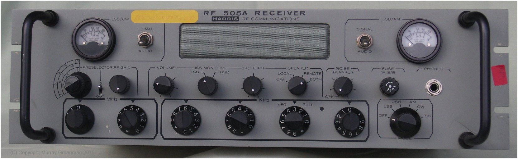 My Hf Receiver Collection Rf Input With Bandpass Filter Switch Circuit Control The Knob Tuned Harris 505a